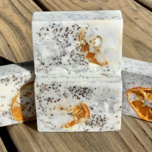 Orange & Chia Seed Goat's Milk Soap