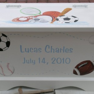 Keepsake Chest Memory Box personalized baby - Sports Theme baby gift