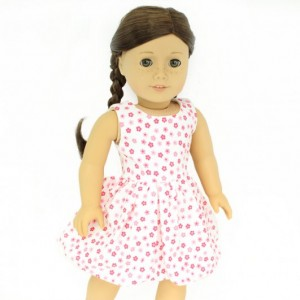 "Pretty in Pink Floral Sundress for American Girl and other 18"" Dolls"