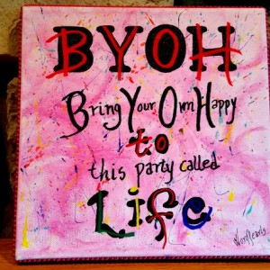 Pink BYOH-Bring Your Own Happy WordPearl™