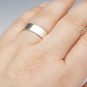 Secret Promise Ring - 6mm wide band - Custom Sentiment - Recycled Sterling Silver Wedding Ring