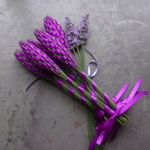 Lavender Wands Gift Set of 5 Small Purple