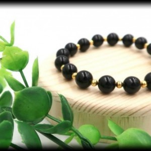 Black Onyx Gemstone Bracelet for Support and Stress Relief