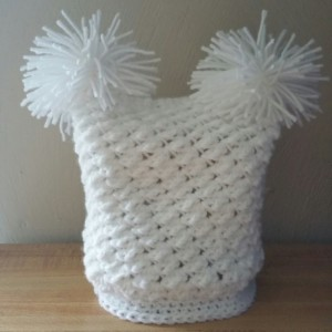Baby double pom pom hat - choice colors and sizes