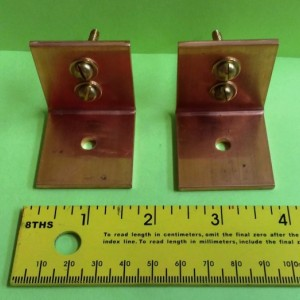 Set of 2 HEAVY DUTY Solid Copper Ceiling Mounting Brackets FREE Shipping to U S Zip codes