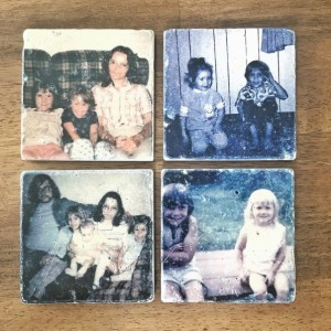 Coaster Set Vintage Picture Coasters with Your Photo Coasters Natural Stone Coaster Set of 4 with Full Cork Bottom Coasters