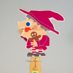 Wooden Puppet -Witch