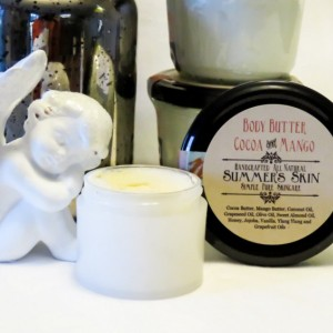 Summer's Skin Cocoa & Mango Body Butter, All Natural, Handcrafted