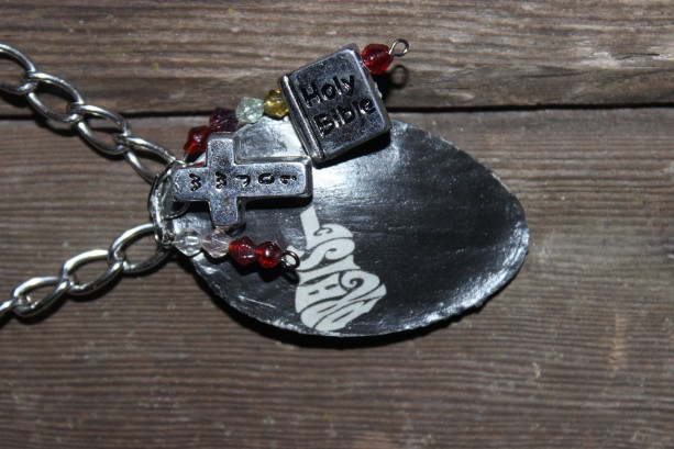 """""""pRAISE"""" necklace and charm"""