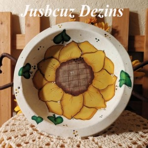 Upcycled Metal Tray/Bowl, Sunflower Decor, Tole Painted Sunflowers