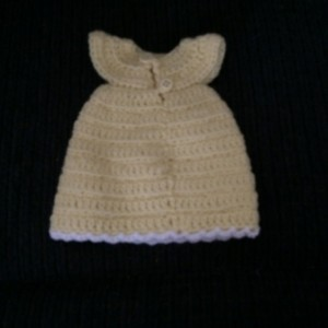 18 inch Veronica, Nicole or Anne Dress Me Up Doll - Crocheted Doll Clothes -Dress and Shoes – Pastel Yellow