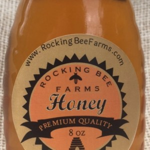 Half Pound (8 oz) of Delicious Fresh Honey in Glass Jar with Metal Lid