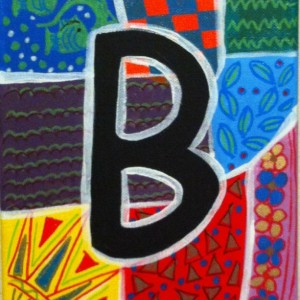 "ALPHABET LETTER ""B"" - Greeting Card By Artist A.V.Apostle"