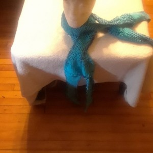 Turquoise  and Purple Set of 2 Women Scarves