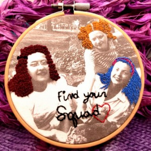 Squad Goals Vintage Photo Embroidery Hoop Art