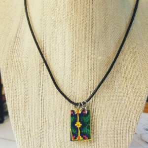 Tribal Plastic Necklace