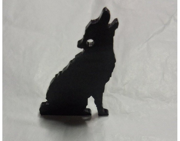 coyote charms,wolf charms,animal charms,laser cut charms,
