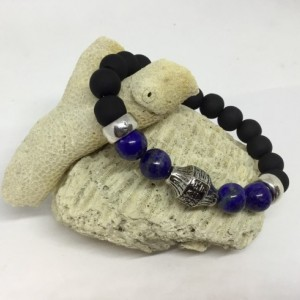 Stacking bracelet, Lapis Lazuli calms the mind, get this for him or her, birthday present, because you love stacked bracelets.
