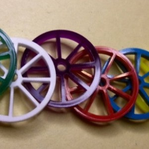 set of 10  wagon wheels,wagon wheel charms,charm laser cut