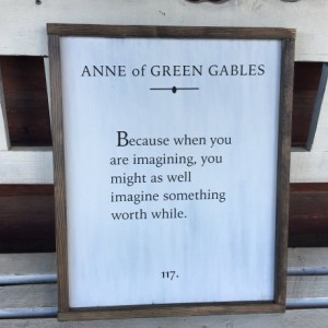 Anne of Green Gables Book Page Art, Quote Sign, Farmhouse Decor, Rustic Wall Decor, Wall Hangings, Nursery Decor, Nursery Wall Decor
