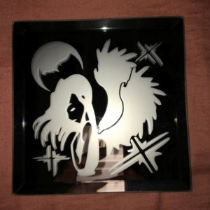Angel Mother Moon Logo Mirror Glass Etching