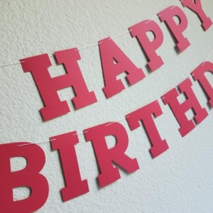 Red Birthday Banner
