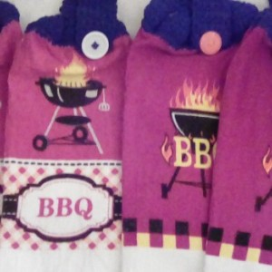 BBQ Themed Hanging Towels