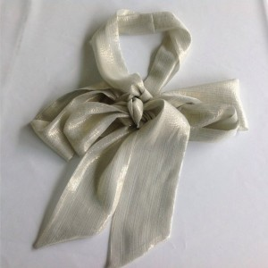 Cream Silk Long Scarf