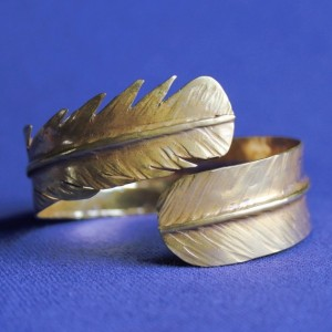 Feather Brass Cuff, Brass Cuff, Bracelet, Feather Cuff, Brass Bracelet, Cuff, Brass Feather Cuff, Yellow Brass, Brass