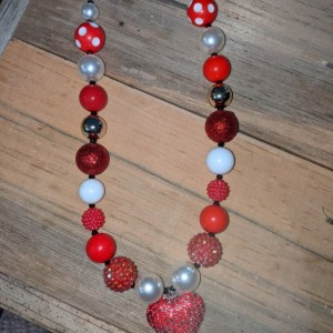Valentine's chunky necklace
