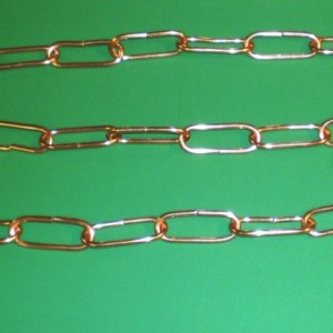 Set of four 30 Inch Copper Chain Handcrafted in Darryl's Copper Workshop FREE SHIPPING to U S Zip codes