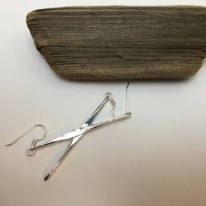 Silver Icicle Earrings