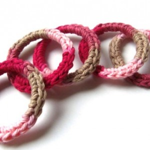 Cat Ferret Recycled Rings Toy Toys Handmade Michigan Rose Red Pink Tan Love Song