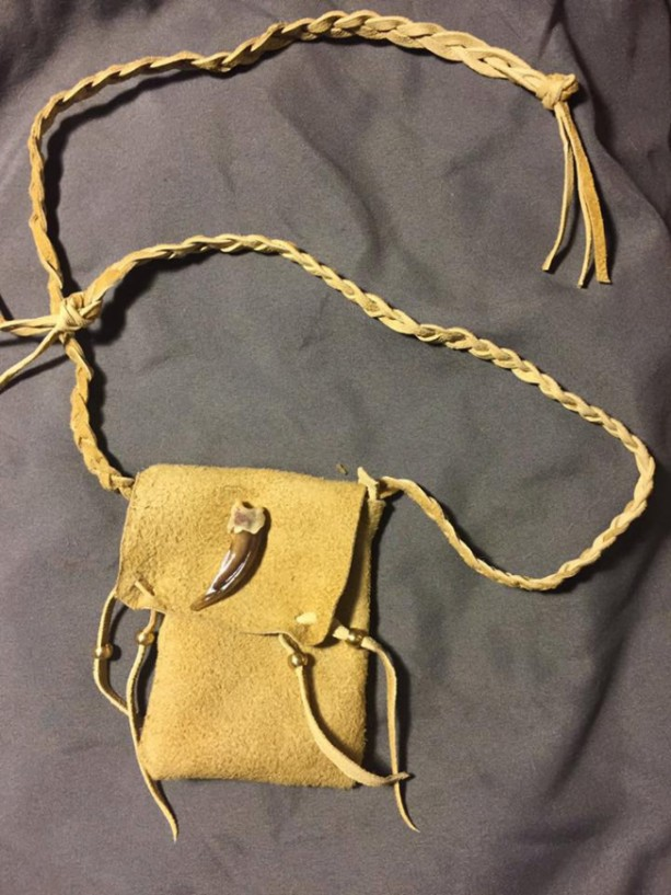 Badger claw medicine bag Native American made