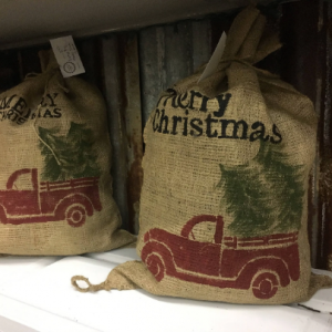 burlap Christmas Bag