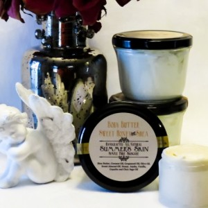 Summer's Skin Sweet Honey & Shea Body Butter,  All Natural, Handcrafted