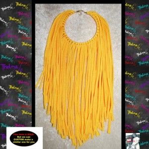 Yellow Fringe Earrings,custom made earrings,fabric fringe,yellow earrings,Handmade Earrings,Long Fringe,Unique Earrings,Lite Weight