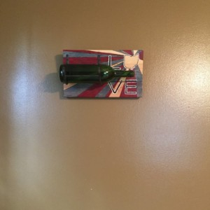 Wall Mounted Love Ohio Wine Bottle Holder