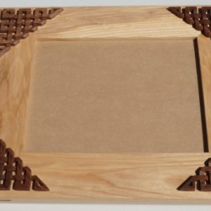 Ash/Walnut 8x10 Picture Frame With Celtic Knotwork Overlays