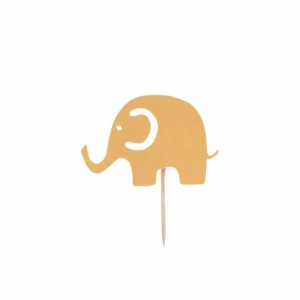 Baby Elephant Cupcake Toppers - Set of 12
