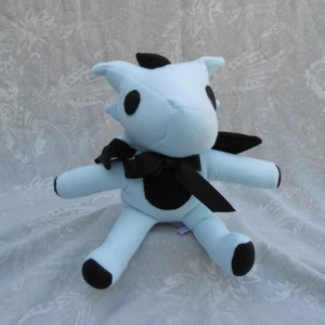 Baby Blue and Black Small Dragon