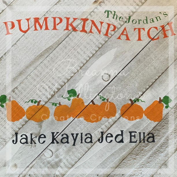 Pumpkin Patch Family Name Wood Sign