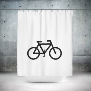 Retro Bicycle Shower Curtain