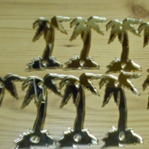 palm trees,laser cut charms,nature charms,beach charms