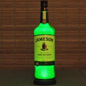 Jameson Irish Whiskey Liquor Bottle Lamp Accent Light Bar Man Cave Fathers Day