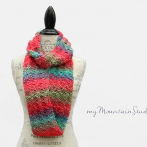 Unforgettable Parrot - Ladies Handmade Infinity Scarf Cowl in Bright Colors