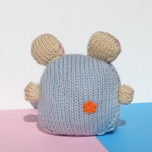 Hand Knitted Mouse, Knit  Baby Mouse, Toy Mouse, Baby Toy, Knitted Toy, Plush Animal Toy, Soft Toy for Infant, All Handmade, Ready to Ship