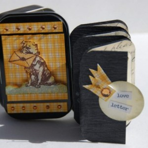 Altered Altoid Tin and Mini Scrapbook - Love Letters