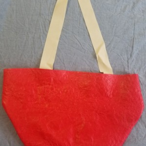 Red Tablecloth Bag
