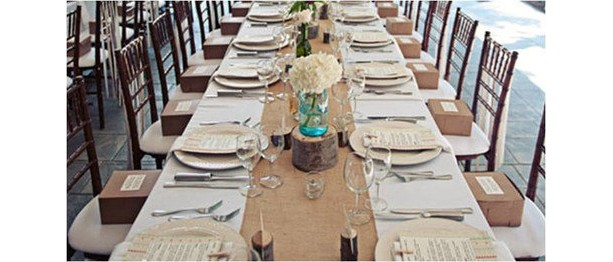 """120"""" x 12"""" Inch Burlap Table Runners (Fit 8ft Long Tables)"""
